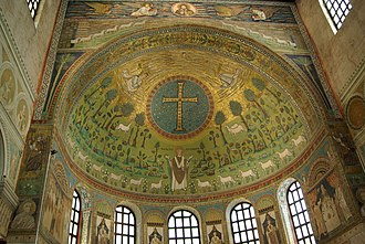 Basilica of Sant'Apollinare in Classe - The apse is lavishly decorated with mosaics, such as the Crux Gemmata