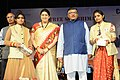 Ravi Shankar Prasad and the Union Minister for Textiles and Information & Broadcasting, Smt. Smriti Irani felicitated the Women VLEs on the basis of performance (2).jpg