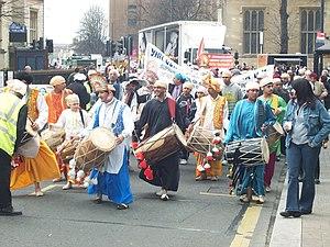 Ravidas - A procession in Bedford, United Kingdom by Ravidasias to mark the birthday of Ravidas.