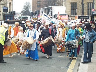 Ravidas - A procession in Bedford, United Kingdom by Ravidasias to mark the birthday of Ravidas.