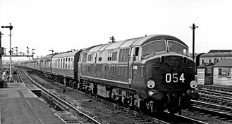 British Rail Class 41 (Warship Class) - D600 'Active' at Reading in 1959