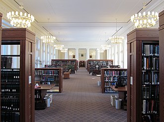 Harvard Library - Reading Room in Langdell Hall