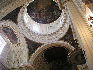Royal Monastery of La Encarnación, Madrid - Cupola of the church.