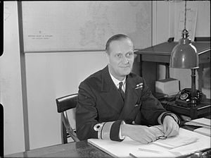 Desmond McCarthy - Rear Admiral McCarthy at his desk at the Admiralty