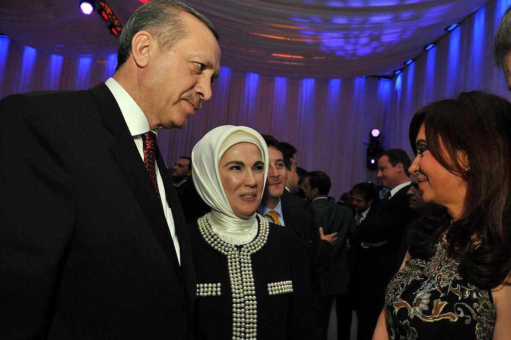 Recep Tayyip Erdogan, Emine Erdogan and Cristina Fernández
