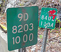 Reference markers on New York State Route 9D at the Dutchess-Putnam county line.jpg