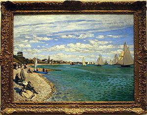 Sailing at the 1900 Summer Olympics - Image: Regatta at Sainte Adresse
