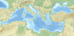 Localisation de Constantinople dans le bassin méditerranéen.