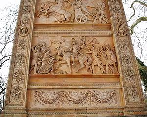 Hermann Schievelbein - Image: Reliefbilder am Triumphtor