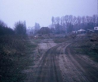 Rickmansworth (Church Street) railway station - Remains of Rickmansworth (Church Street) Station, photographed in 1972