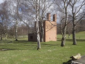 Featherstone Castle - Remains of the Camp 18 POW camp in Featherstone Park, March 2015.