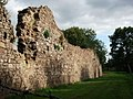 Remains of west curtain wall, Hartshill Castle, Castle Road, Hartshill.jpg