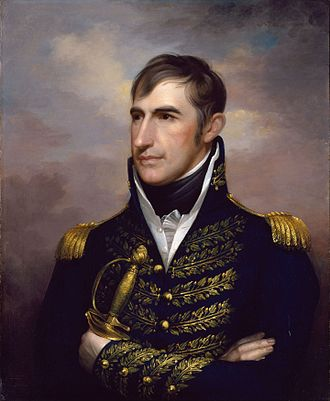 William Henry Harrison - This portrait of Harrison originally showed him in civilian clothes as the congressional delegate from the Northwest Territory in 1800, but the uniform was added after he became famous in the War of 1812.