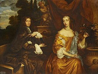 Henry Hyde, second Earl of Clarendon (1638-1709), when Viscount Cornbury, with his first wife, Theodosia Capel (1640-62)