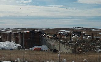 Reservation poverty - The large expanses of land on some reservations are used as garbage dumps for metropolitan areas.