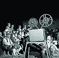Residents of Ballıkpınar Village, movie screening, 1930s (16852456935).jpg