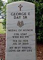 Retired U.S. Air Force Col. George Day's gravestone is shown during his funeral service at Naval Air Station Pensacola, Fla., Aug. 1, 2013 130801-F-HG908-004.jpg