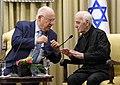 Reuven Rivlin hosts the singer Charles Aznavour at Beit HaNassi, October 2017 (5578).jpg