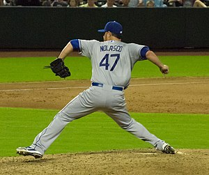 Ricky Nolasco - Nolasco pitching for the Los Angeles Dodgers in 2013