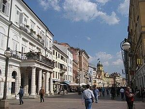Der Korzo - die Flaniermeile von Rijeka.