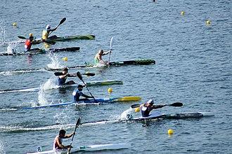 Canoe sprint - Image: Rio 2016. Canoagem de velocidade Canoe sprint (28860179530)