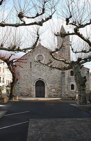 Riols (Hérault) - église Saint-Pierre - façade occidentale.