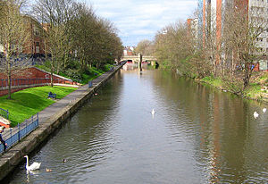 River Soar - A canalised section of the river in Leicester