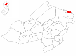 Riverdale highlighted in Morris County. Inset map: Morris County highlighted in the State of New Jersey.