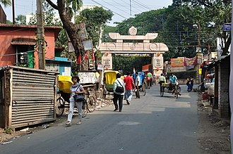 Narendrapur - Local road, opposite of the Ramakrishna Mission Ashrama, Narendrapur.