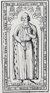French Nobleman, count of Dreux from 1218 to 1234