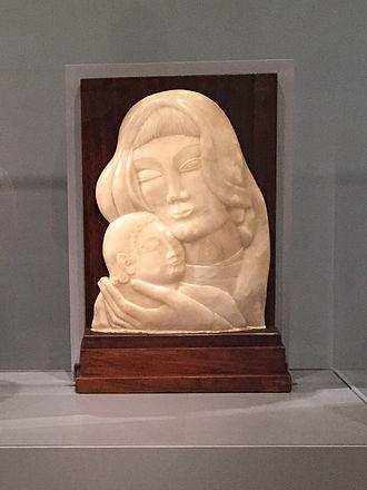 Robert Laurent - Robert Laurent's Mother and Child on display at the Smithsonian American Art Museum