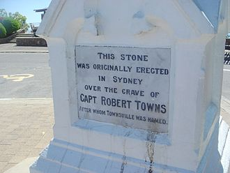 Robert Towns - Robert Towns Gravestone, Detail of monument atop Castle Hill, Townsville