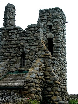 Robinson Jeffers Hawk Tower, Tor House, Carmel, CA 2008 Photo by Celeste Davison.JPG