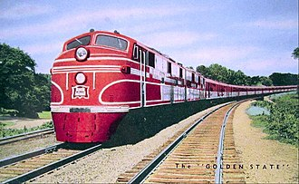 Golden State (train) - Streamlined version of the train.