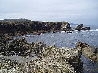 Ferriter's Cove - Volcanic Silurian rocks at Ferriter's Cove.