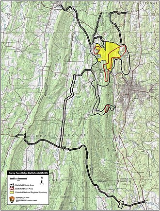 Battle of Rocky Face Ridge - Image: Rocky Face Ridge Battlefield Georgia
