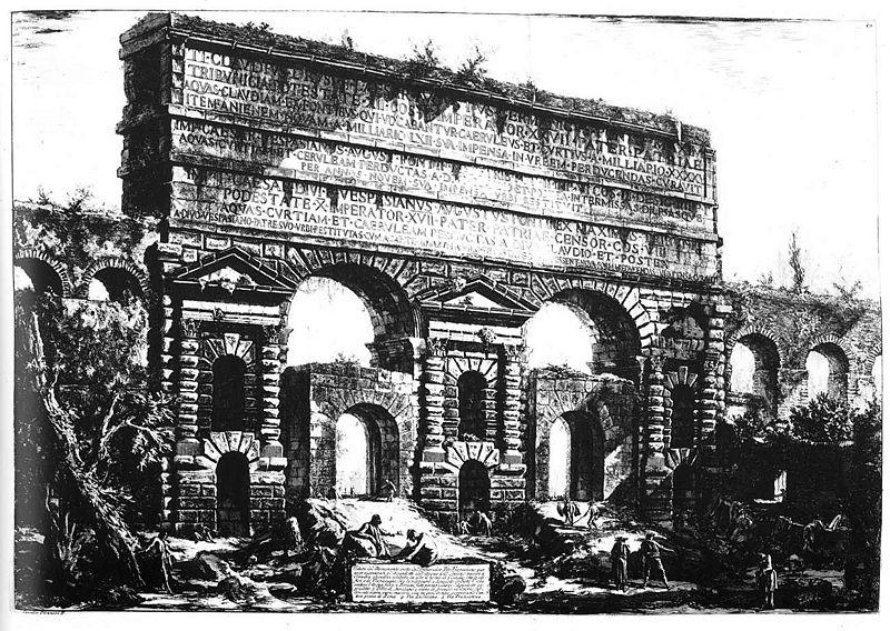 File roma porta maggiore incisione for Porta maggiore