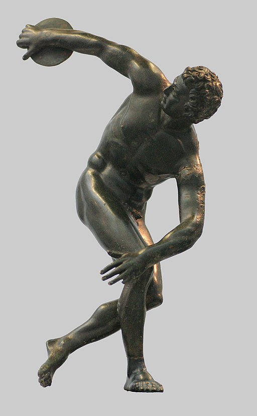 Roman bronze copy of Myron's Discobolos, 2nd century CE (Glyptothek Munich)