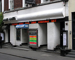 Frith Street - Ronnie Scott's Jazz Club at 47 Frith Street.