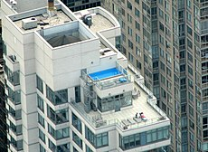 Rooftop pool in Manhattan.