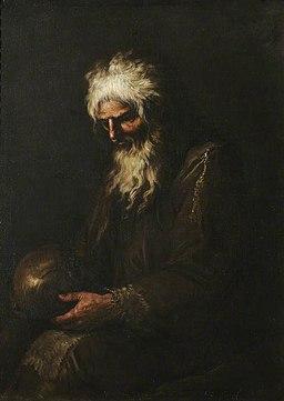 Rosa - A Hermit Contemplating a Skull, 1640–1649