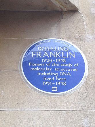 Rosalind Franklin -  Blue plaque on 107 Drayton Gardens, London SW10