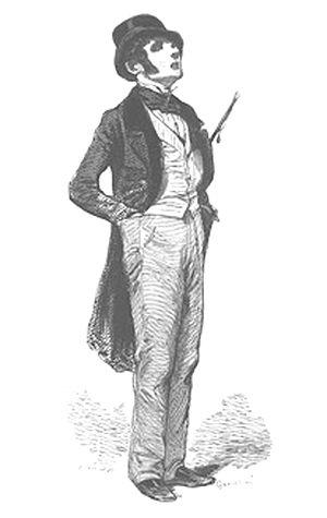 Flâneur - Paul Gavarni, Le Flâneur, 1842
