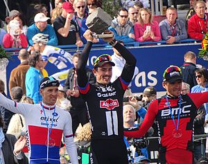 2015 Paris–Roubaix - Post-race podium