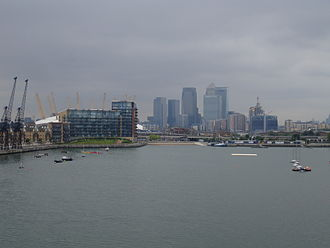 Royal Victoria Dock - Image: Royal Albert dock looking west to CW