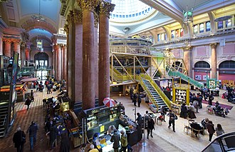 Royal Exchange, Manchester - View towards the arches and theatre in the Great Central Hall