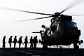 Royal Marines Embarking onto a Sea King Helicopter MOD 45156787.jpg