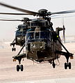 Royal Navy Sea King Mk 4 Helicopters from 845 and 846 Naval Air Squadrons Over Afghanistan MOD 45153251.jpg