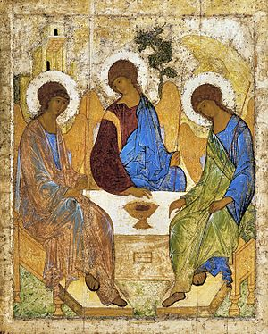 Andrei Rublev (film) - Andrei Rublev's famous icon of the Holy Trinity (c. 1410; Tretyakov Gallery, Moscow)