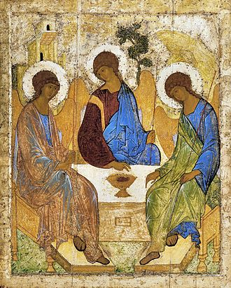 Andrei Rublev - Rublev's famous icon of the Trinity.